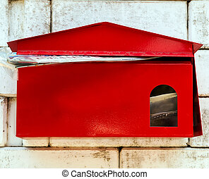 postal old box for letters and newspapers