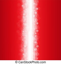 Red Poster With Snowflakes