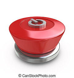 Red power button
