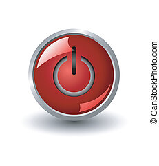 red power web button