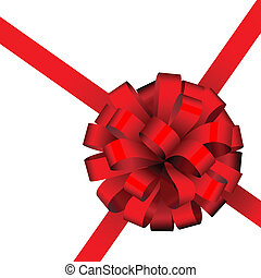 Red present packing ribbon