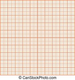 Red print texture. Graph paper.