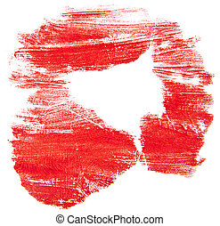 red prints isolated on white background