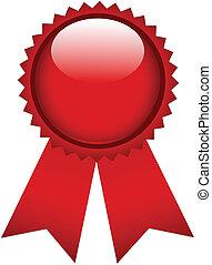 Red prize ribbon