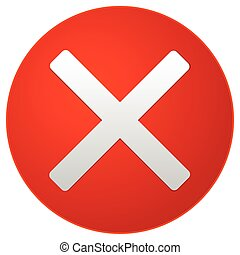Red prohibition, Restriction sign. Eps10 Vector illustration.