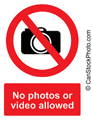 Red Prohibition Sign isolated on a white background - No ...