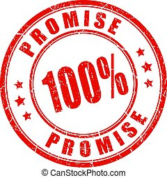 Red promise guarantee seal