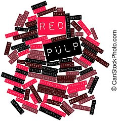 Red pulp - Abstract word cloud for Red pulp with related...