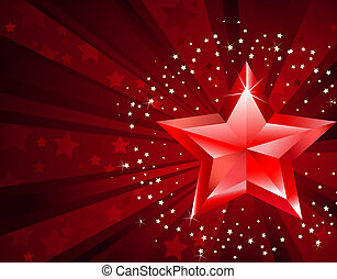 Red Pure Star - red pure star with the decorated stars by...