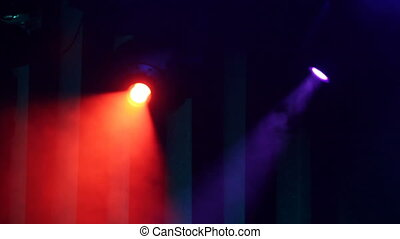 Red Purple Motion Stagelights