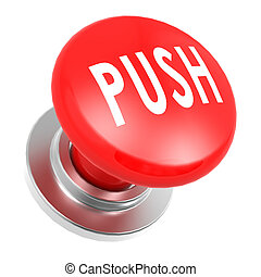 Red push button image with hi-res rendered artwork that...