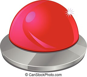 Red push button vector icon