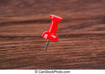 Red pushpins