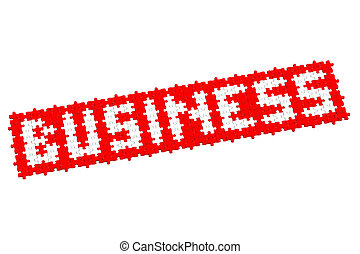 Red puzzle with word business