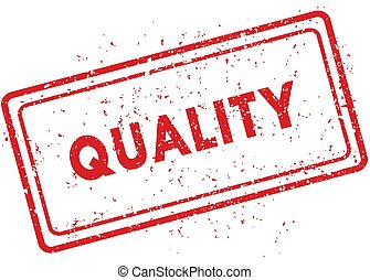 Red QUALITY rubber stamp