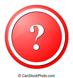 red question mark round button