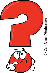 Red Question Mark Thinking