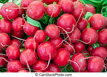 Red radish seen at the market