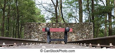 red railroad buffer stop - red railroad buffer end to...