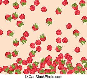 Red Raspberry pattern background