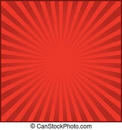 Red rays of vector carnival background. Vector illustration