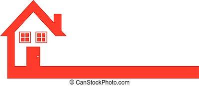Red Real Estate House Logo Design