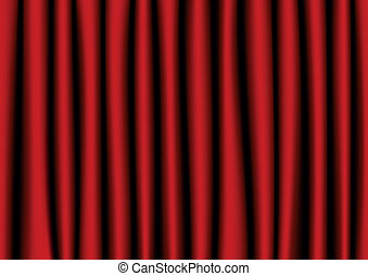 Red realistic curtain