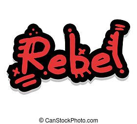 Red rebel - Creative design of red rebel