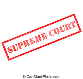 Red rectangle Supreme Court stamp in weathered ink