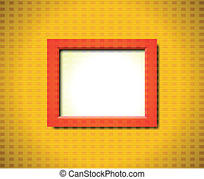 Red rectangular frame