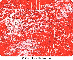 red rectangular grunge stamp with copyspace in the middle isolated on white background