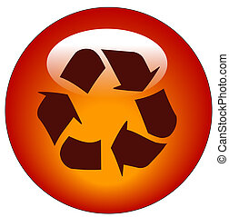 red reduce reuse recycle web button