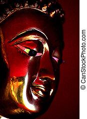 Red Reflection Budda - Red reflection Budda of Mea Hong Son