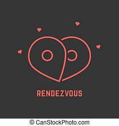 red rendezvous icon with pin