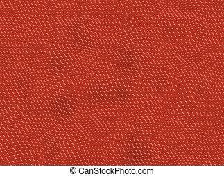 Red reptile skin