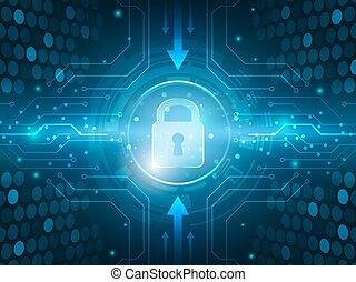 red, resumen, global, fondo., innovación, seguridad,...