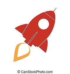 Red Retro Rocket Concept