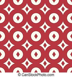 Red retro seamless pattern