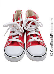 Red retro sneakers