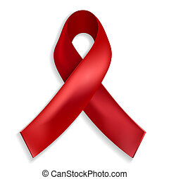 Red ribbon - a symbol of the fight against AIDS
