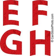 red ribbon alphabet