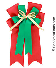 Red ribbon and bow Isolated on white background with clipping path