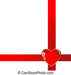 Red ribbon and hearts