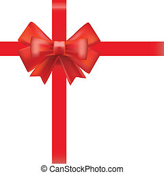 red ribbon background