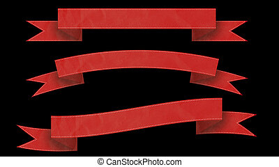 Red Ribbon banners for your text.