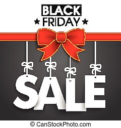 Red Ribbon Black Friday Sale