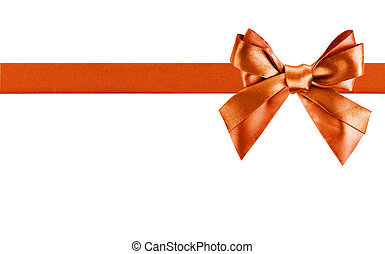 Red ribbon bow like a gift