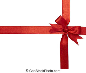 red ribbon card note - close up of card note with red ribbon...