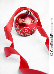 Red Ribbon Christmas Baubles