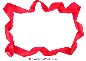 red ribbon copy space frame border